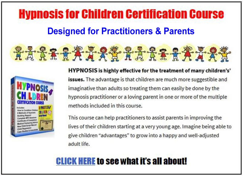 child hypnosis course ad