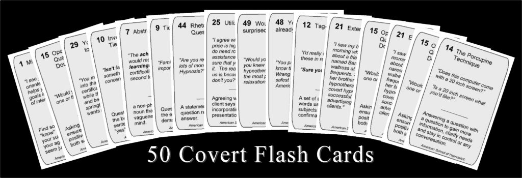 Covert Hypnosis Cards set