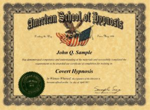 covert hypnosis certificate